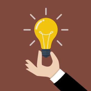 43296357 - hand holding light bulb. business idea concept.