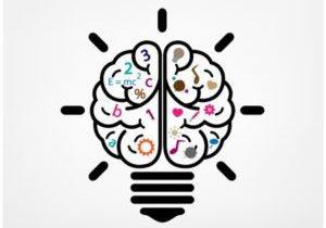 25249086 - creative brain idea concept background design